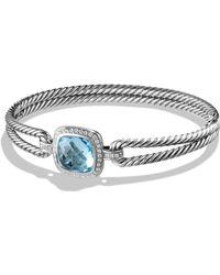 David Yurman   Albion Bracelet With Diamonds And Blue Topaz   Lyst