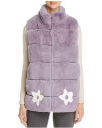 Maximilian | Floral Rabbit Fur Vest | Lyst