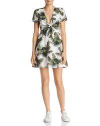 Re:named - Paradise Tropical Print A-line Mini Dress - Lyst