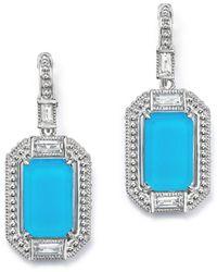 Judith Ripka - Sterling Silver Doublet Baguette Drop Earrings With Rock Crystal - Lyst