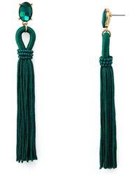Aqua - Randi Fringe Earrings - Lyst