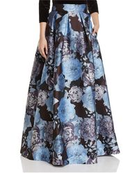 Eliza J - Pleated Floral-print Ball Skirt - Lyst