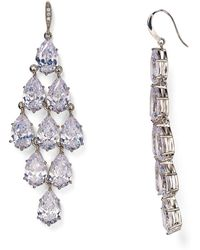 Carolee | Pavé Kite Chandelier Earrings | Lyst
