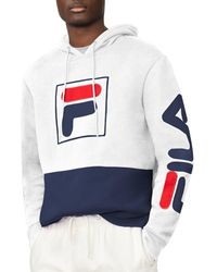 Fila - Tony Color-blocked Logo Pullover Hoodie - Lyst