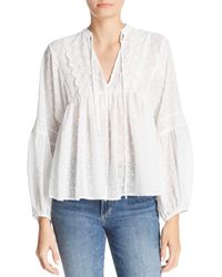 Sage the Label - Damsel Textured-dot Top - Lyst