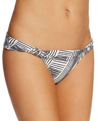 ViX - Brushed Stripe Bia Foldover Bikini Bottom - Lyst