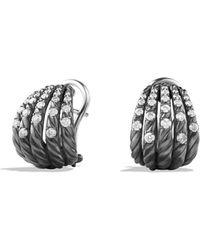 David Yurman - Tempo Earrings With Diamonds - Lyst