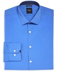 W.r.k. - French Solid Stretch Slim Fit Dress Shirt - Lyst