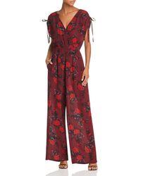 Band Of Gypsies - Morgan Floral Tie-detail Jumpsuit - Lyst
