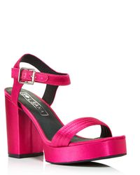 Sol Sana - Women's Cathy Satin Platform Sandals - Lyst
