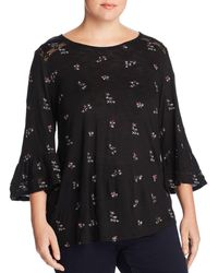 Lucky Brand - Embroidered Bell Sleeve Top - Lyst