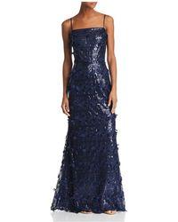 Eliza J - Embellished A-line Gown - Lyst