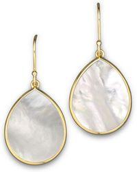 Ippolita - 18k Gold Polished Rock Candy Teardrop Earrings In Mother-of-pearl - Lyst
