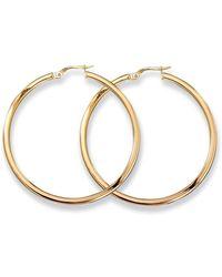 Roberto Coin - Medium 18k Yellow Gold Hoop Earrings - Lyst