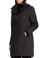 Ralph Lauren - Lauren Hooded Diamond-quilted Jacket - Lyst