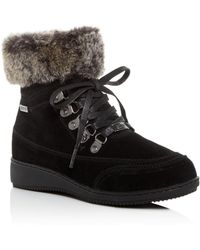Khombu - Women's Farros Waterproof Cold-weather Wedge Booties - Lyst