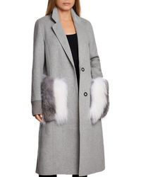 Dawn Levy - Natalie Fur Pocket Coat - Lyst