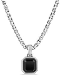 David Yurman - Petrvs Emerald Cut Amulet With Black Onyx - Lyst