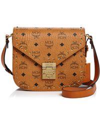 MCM - Patricia Stud Trim Visetos Small Shoulder Bag - Lyst 940851fb8ecda