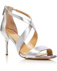 Imagine Vince Camuto - Pascal Metallic Crisscross High Heel Sandals - Lyst