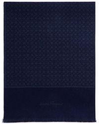 Ferragamo - Reversible Gancini Wool Scarf - Lyst