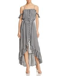 Lost + Wander - Lost + Wander Day Trip Ruffled Cold-shoulder Gingham Dress - Lyst