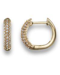 Bloomingdale's - Diamond Hoop Earrings In 14k Yellow Gold - Lyst