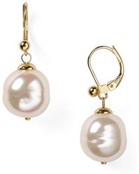 Majorica | Baroque Simulated Pearl Drop Earrings | Lyst