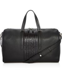 Ferragamo - Firenze Pebbled And Woven Leather Duffel Bag - Lyst