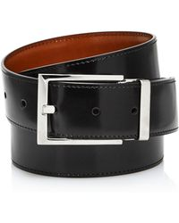 Ferragamo - Square Buckle Reversible Belt - Lyst
