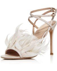 Pour La Victoire - Women's Elexi Feather Embellished High Heel Sandals - Lyst