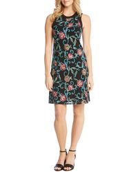 Karen Kane - Embroidered Mesh Tank Dress - Lyst