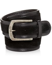 John Varvatos - Waxed Suede Belt - Lyst