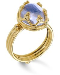 Temple St. Clair - 18k Gold Crown Ring With Royal Blue Moonstone - Lyst