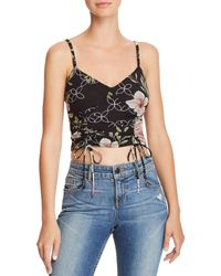Guess - Odette Ruched Drawstring Floral Camisole - Lyst