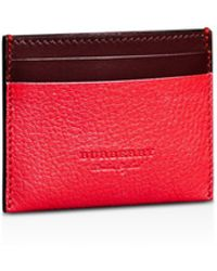 4637caae2d50 Burberry - Sandon Two-tone Leather Card Case - Lyst