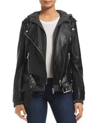 Bagatelle - Layered-look Faux-leather Moto Jacket - Lyst