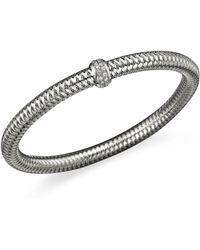 Roberto Coin - 18k White Gold Primavera Stretch Bracelet With Diamonds - Lyst