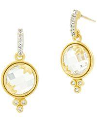 Freida Rothman - Fleur Bloom Mini Faceted Drop Earrings - Lyst