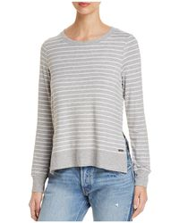 Marc New York - Performance Striped High/low Sweatshirt - Lyst