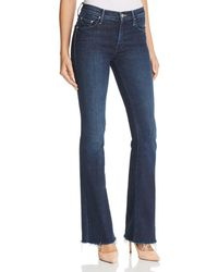 Mother - The Weekender Fray Flared Jeans In Disco Doll - Lyst