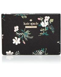Kate Spade - Cameron Street Flora Leather Card Holder - Lyst
