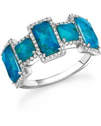 Meira T - 14k White Gold Chrysocolla Doublet And Diamond Ring - Lyst