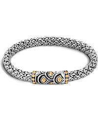 John Hardy - Sterling Silver And 18k Bonded Gold Naga Chain Bracelet - Lyst