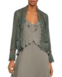BCBGMAXAZRIA - Scalloped Lace Jacket - Lyst