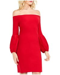 Vince Camuto - Off-the-shoulder Balloon Sleeve Dress - Lyst