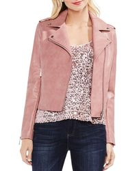 Vince Camuto - Faux Leather Moto Jacket - Lyst