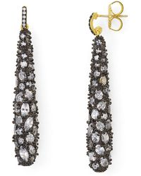 Freida Rothman - Gilded Cable Pebble Earrings - Lyst