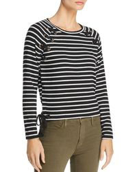Generation Love - Kath Lace - Up Striped Tee - Lyst