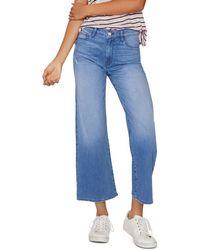 Sanctuary - Non Conformist Cropped Wide-leg Jeans In Solano Blue - Lyst